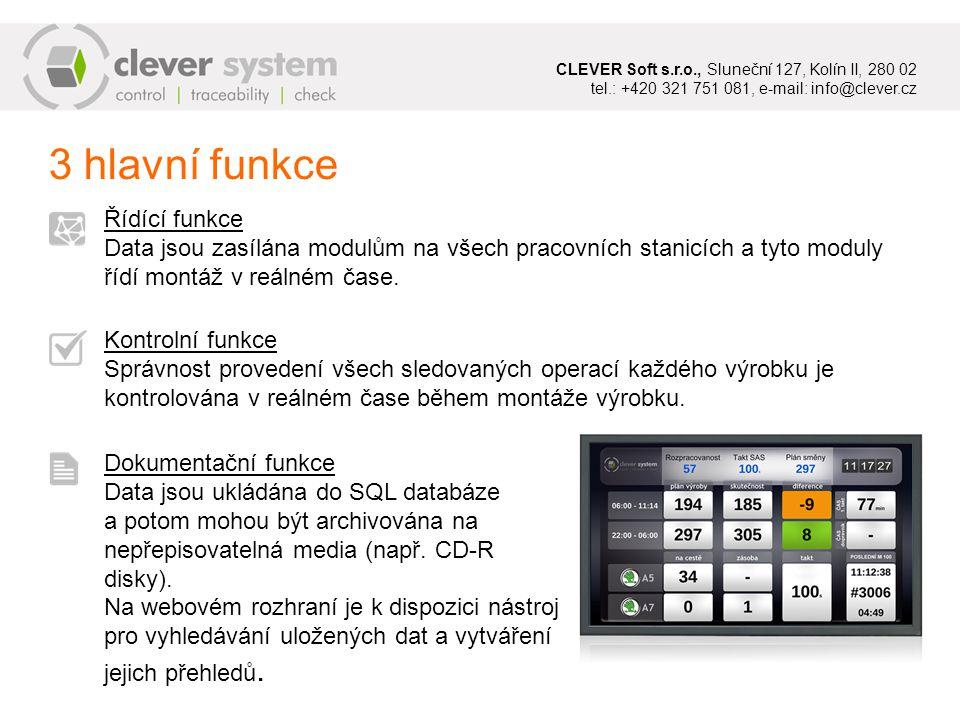 CLEVER Soft s. r. o. , Sluneční 127, Kolín II, 280 02 tel