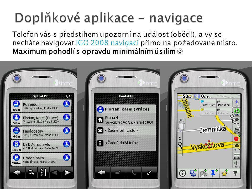 Doplňkové aplikace - navigace