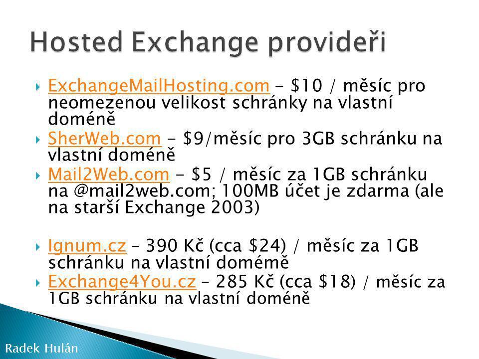 Hosted Exchange provideři