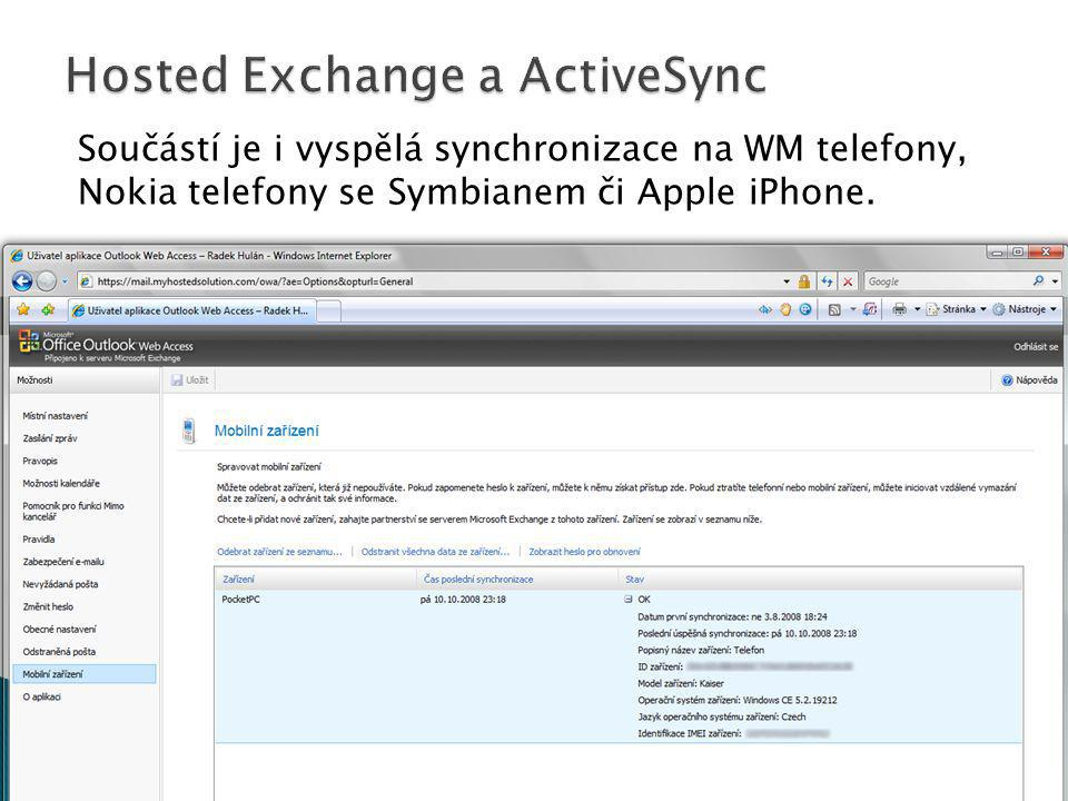Hosted Exchange a ActiveSync