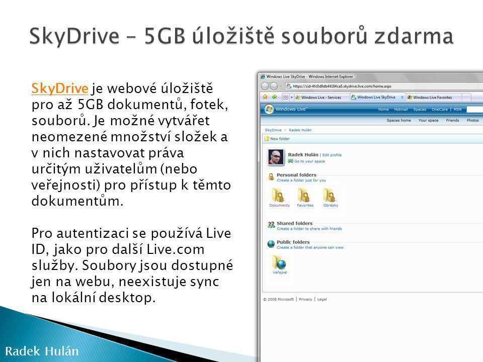 SkyDrive – 5GB úložiště souborů zdarma