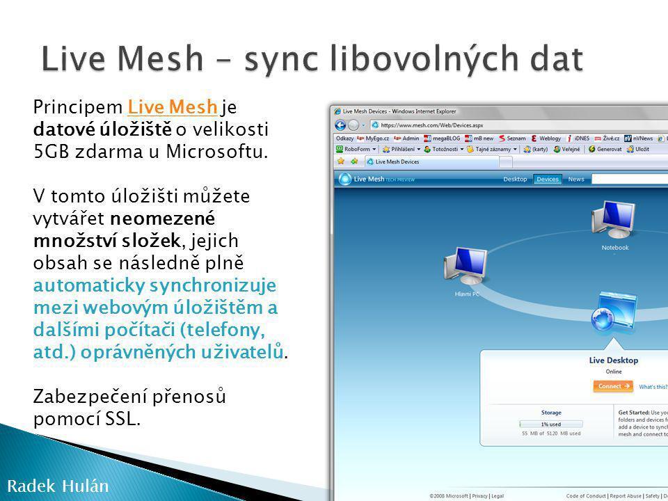 Live Mesh – sync libovolných dat