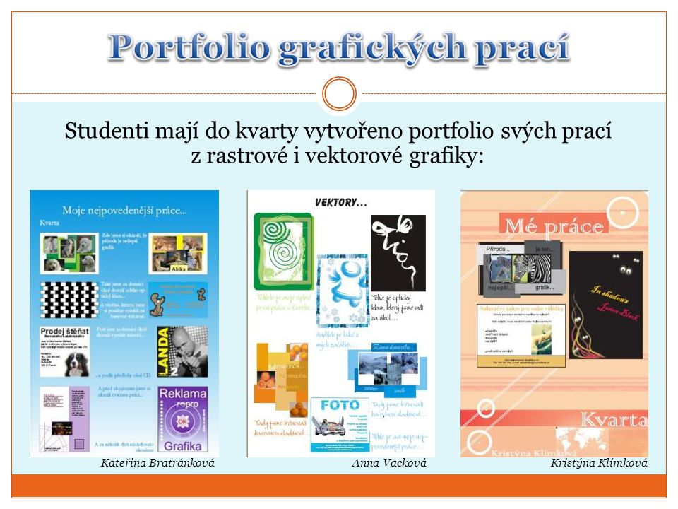 Portfolio grafických prací
