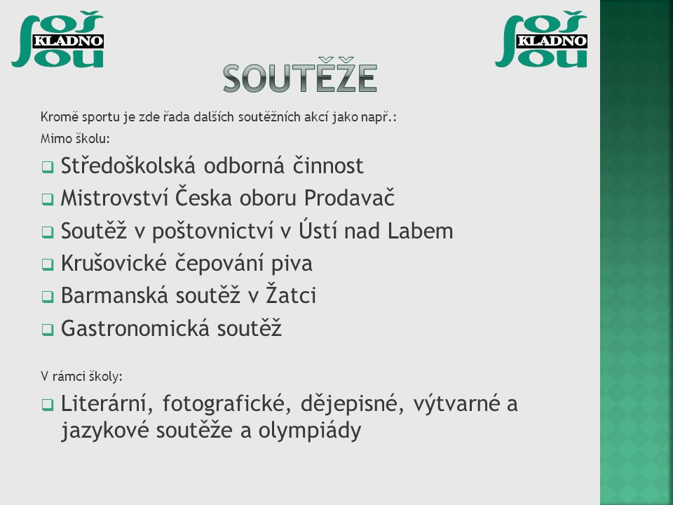 Soutěže Středoškolská odborná činnost Mistrovství Česka oboru Prodavač