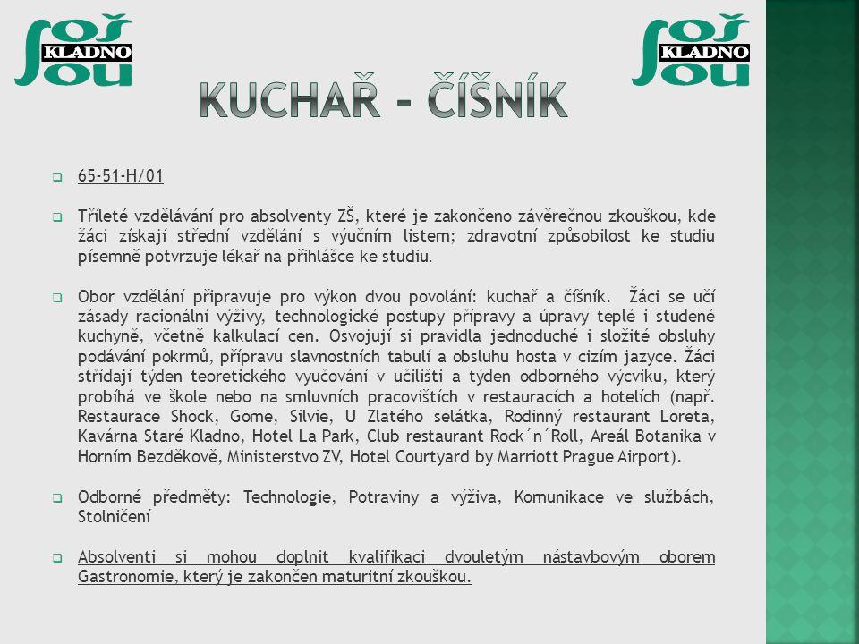 Kuchař - číšník 65-51-H/01.