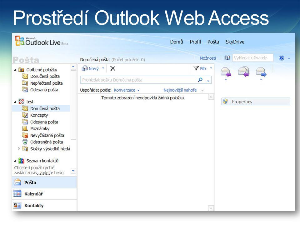 Prostředí Outlook Web Access