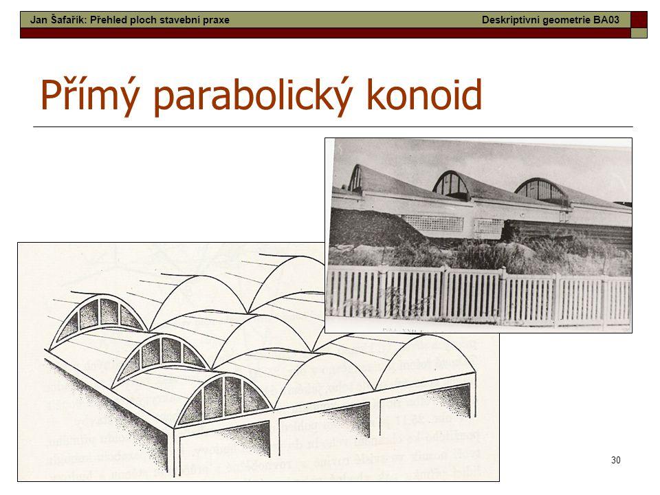 Přímý parabolický konoid