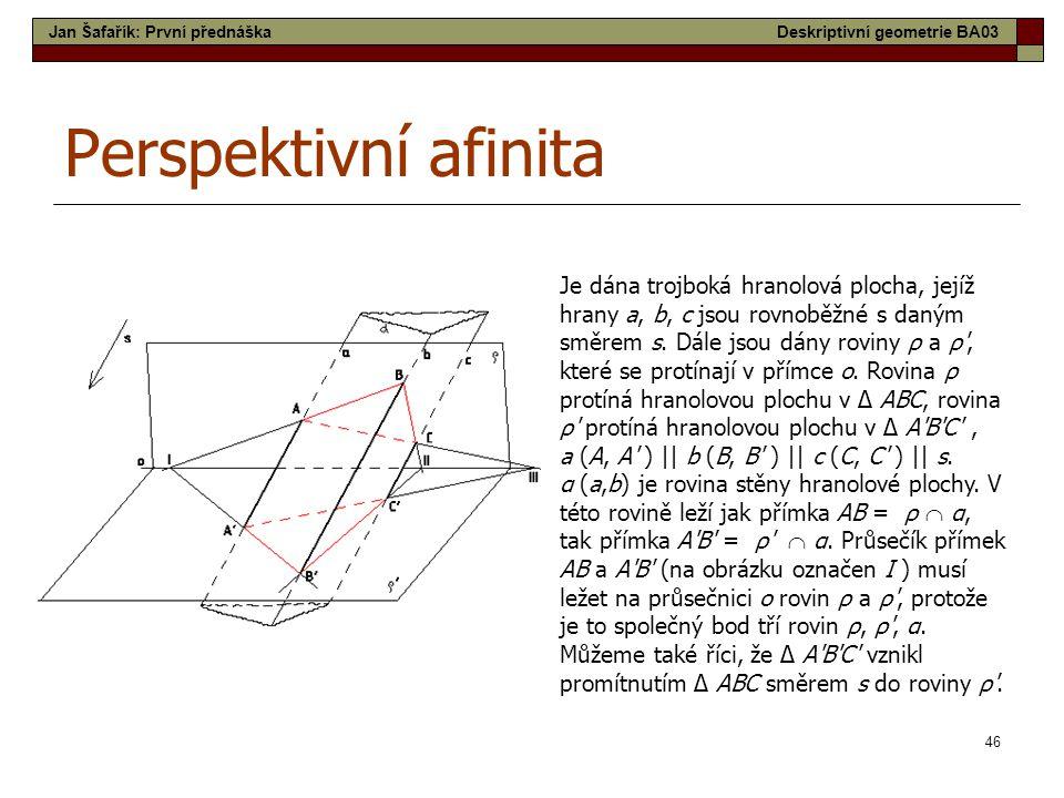 Jan Šafařík: První přednáška