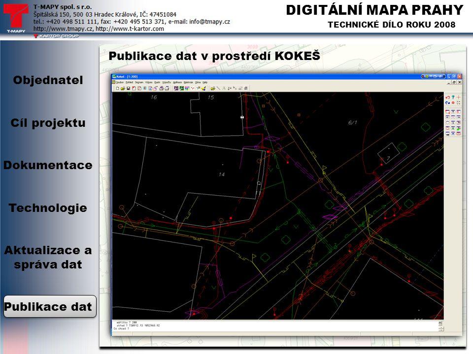 Objednatel Cíl projektu Dokumentace Technologie Aktualizace a správa dat Publikace dat