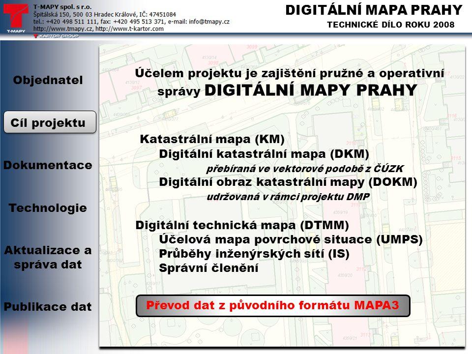 Převod dat z původního formátu MAPA3