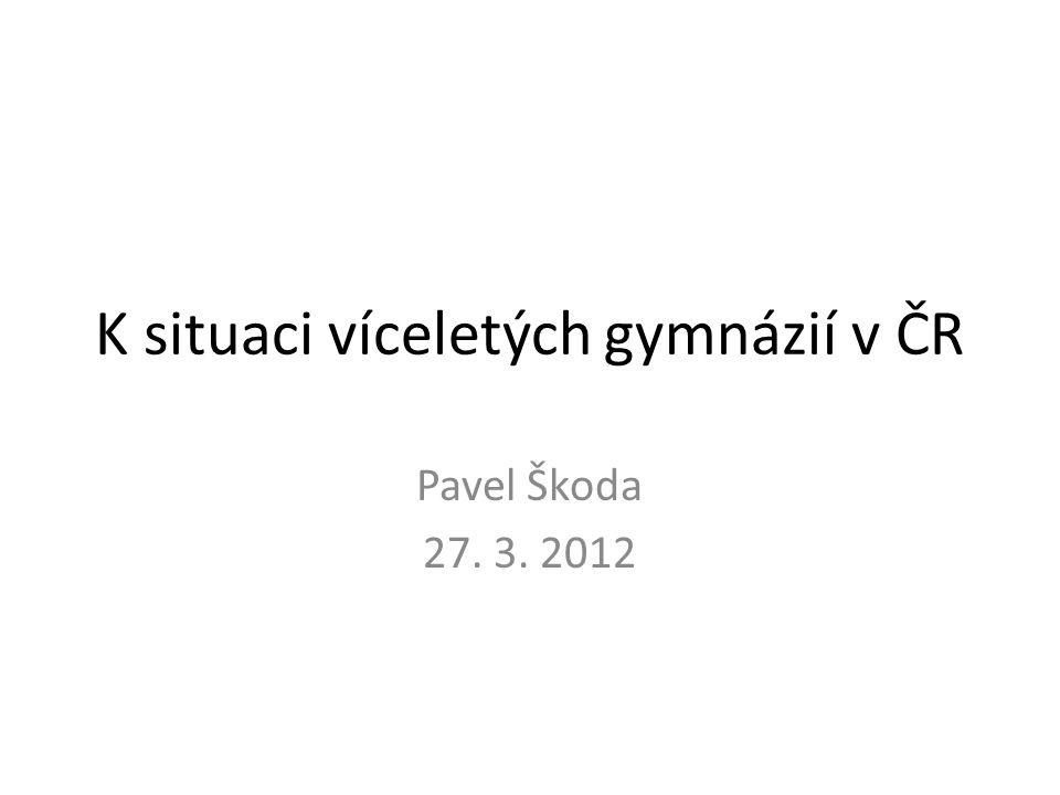 K situaci víceletých gymnázií v ČR