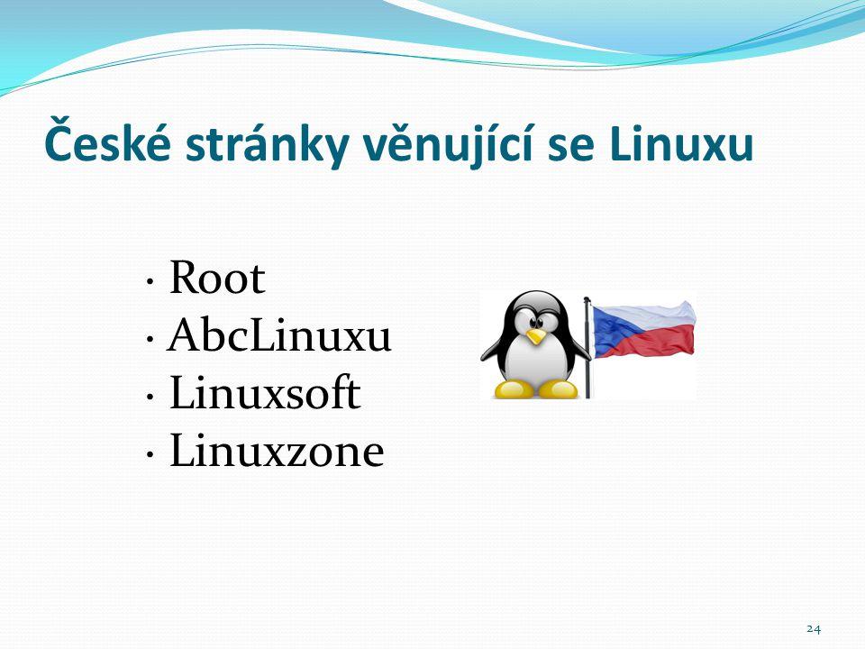 České stránky věnující se Linuxu
