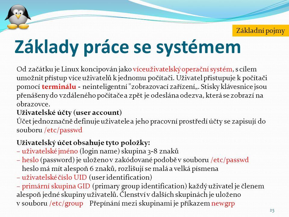 Základy práce se systémem