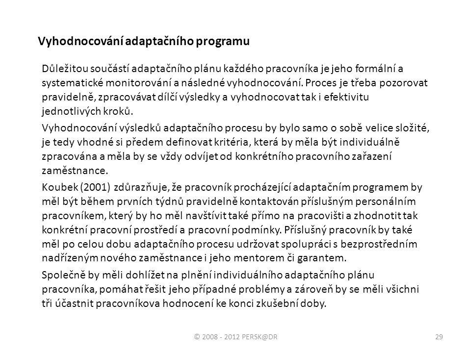 Vyhodnocování adaptačního programu