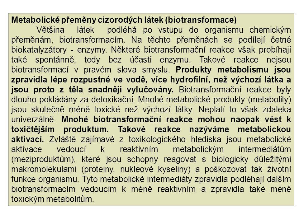 Metabolické přeměny cizorodých látek (biotransformace)