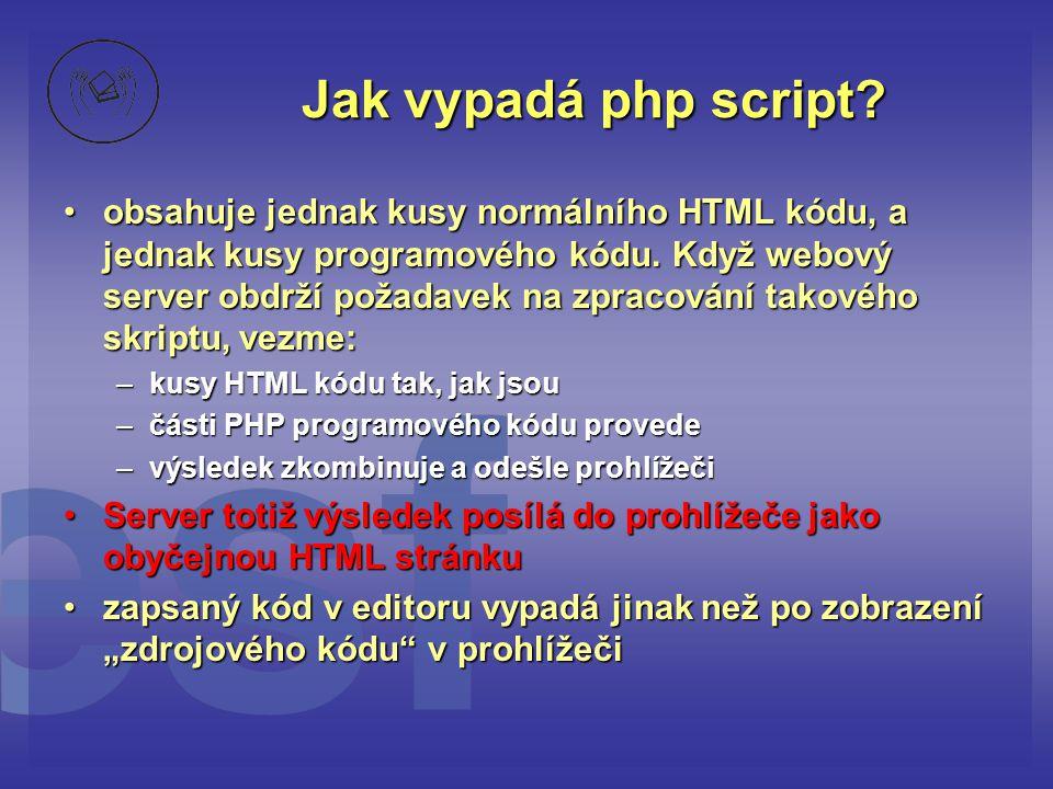 Jak vypadá php script