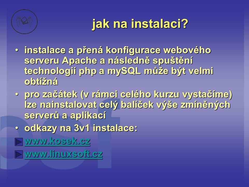jak na instalaci instalace a přená konfigurace webového serveru Apache a následně spuštění technologií php a mySQL může být velmi obtížná.
