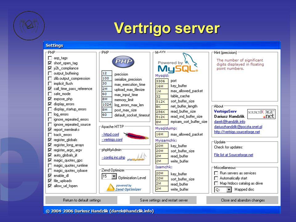 Vertrigo server