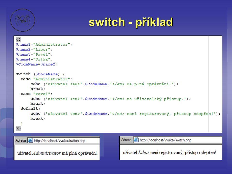 switch - příklad