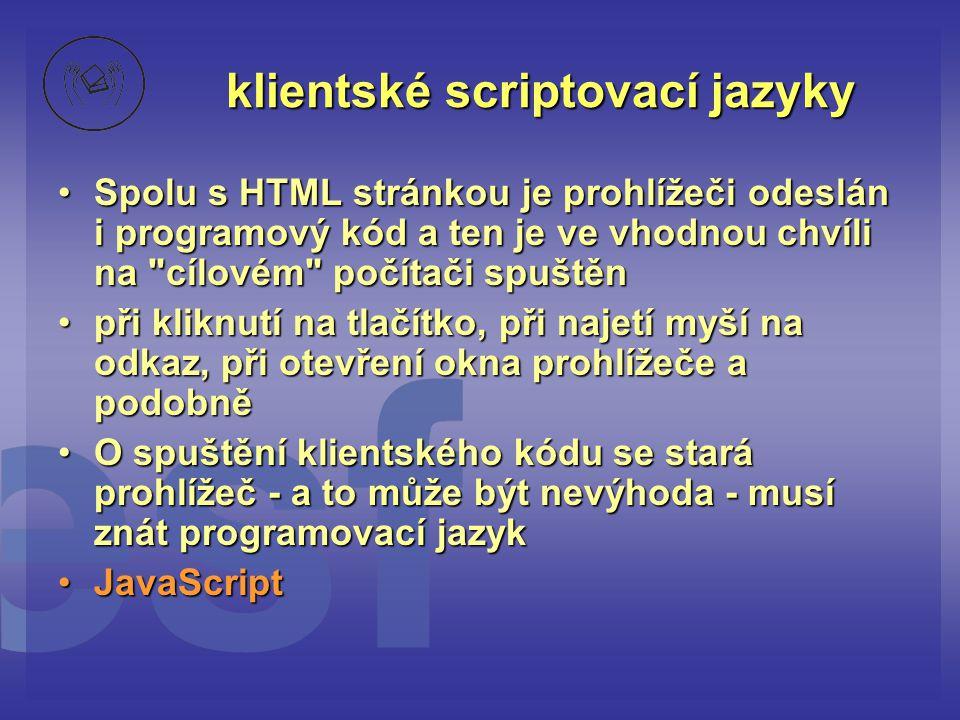 klientské scriptovací jazyky