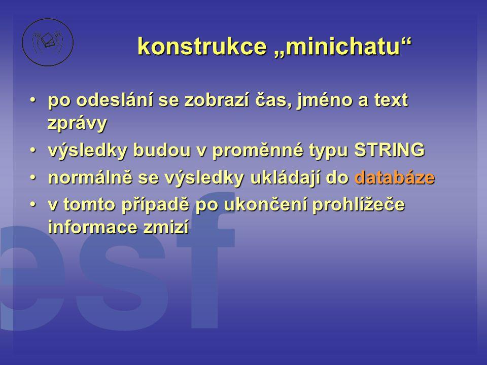 "konstrukce ""minichatu"