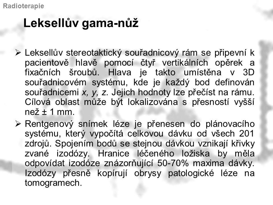 Radioterapie Leksellův gama-nůž.