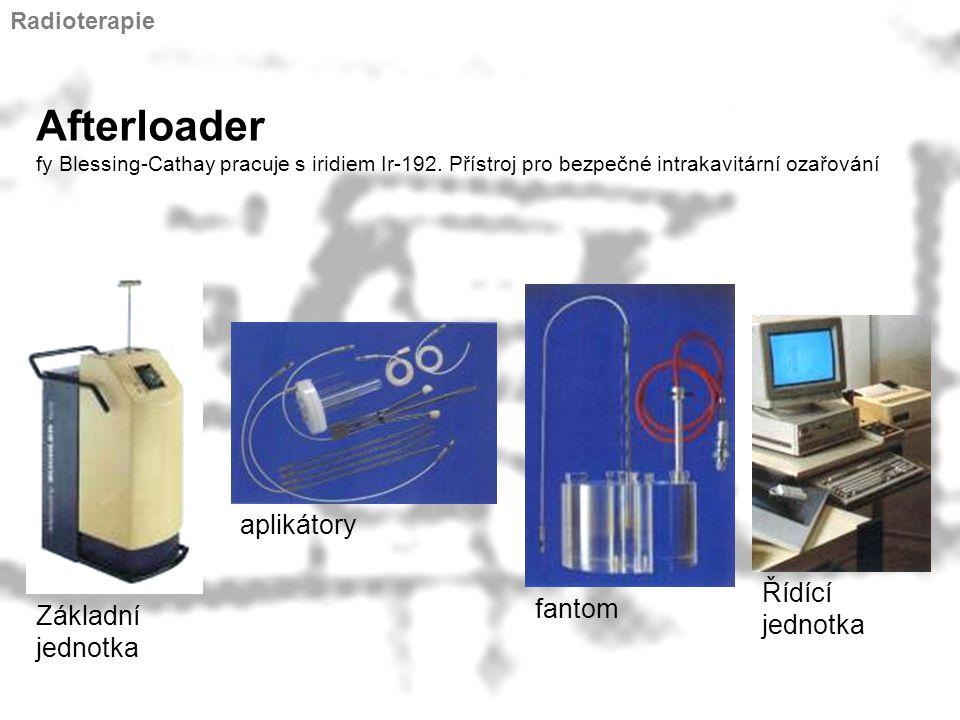 Radioterapie Afterloader fy Blessing-Cathay pracuje s iridiem Ir-192. Přístroj pro bezpečné intrakavitární ozařování.