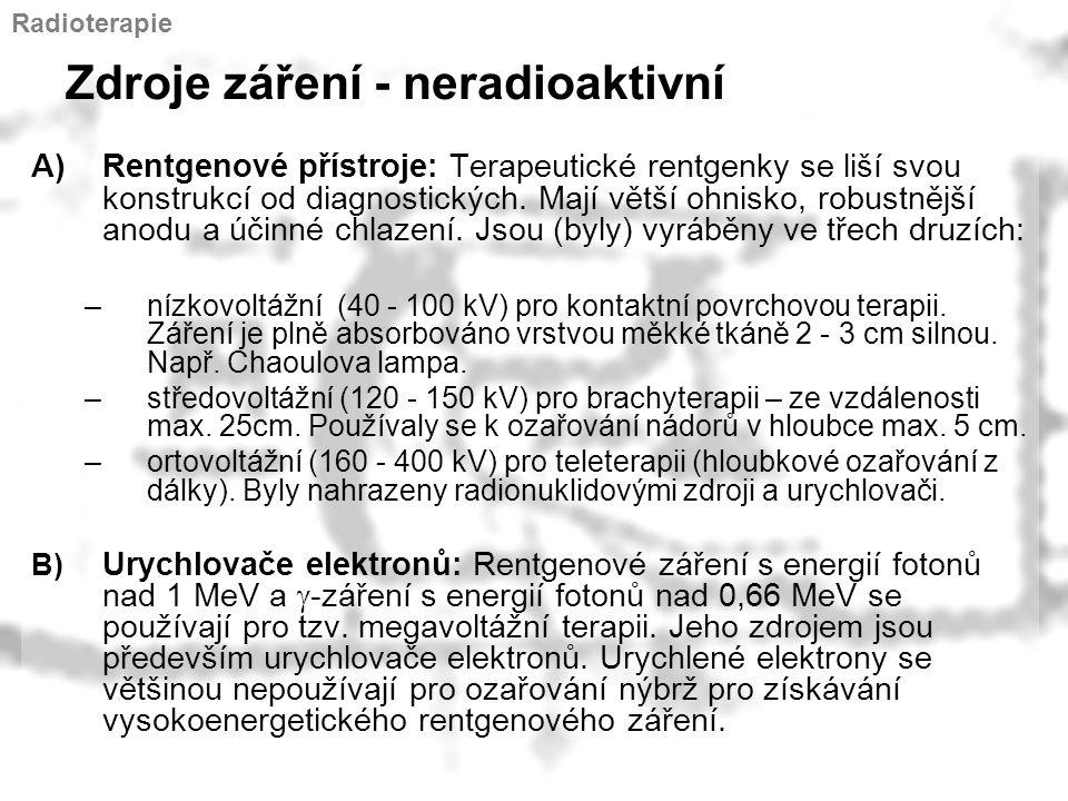 Zdroje záření - neradioaktivní