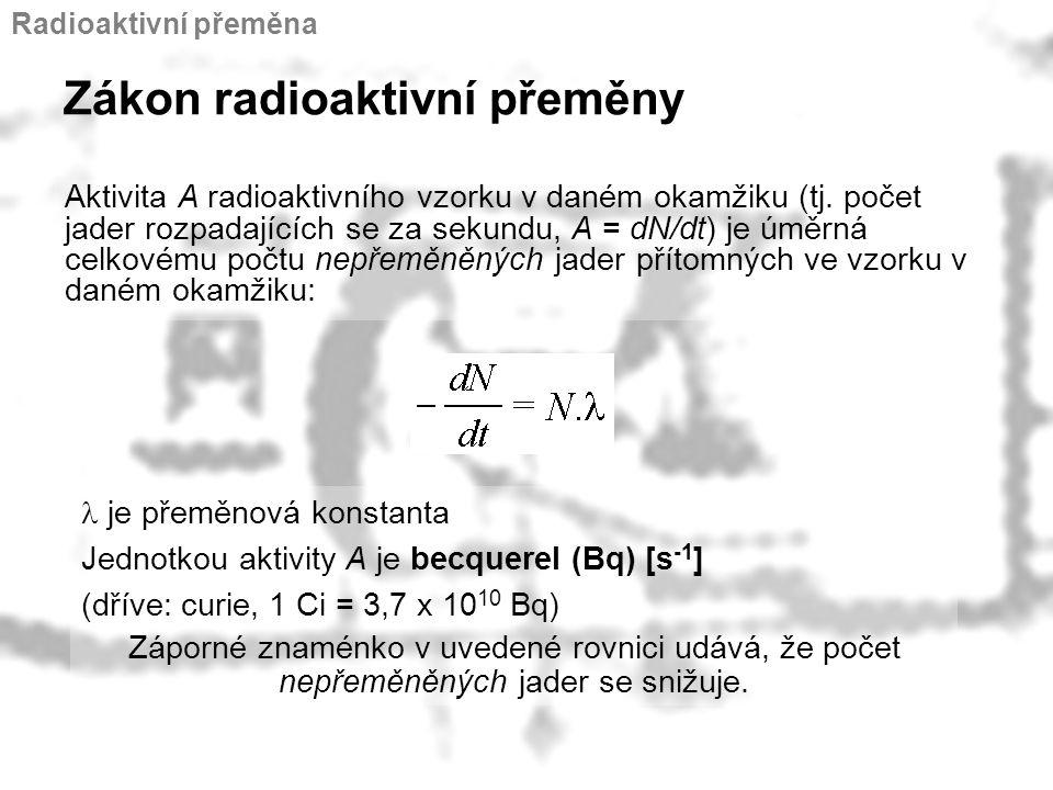 Zákon radioaktivní přeměny