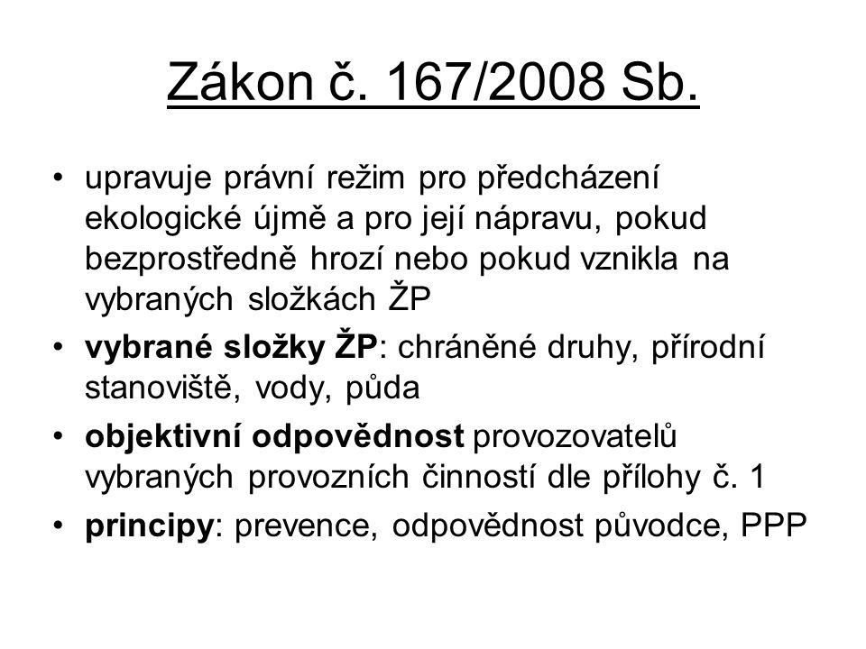 Zákon č. 167/2008 Sb.
