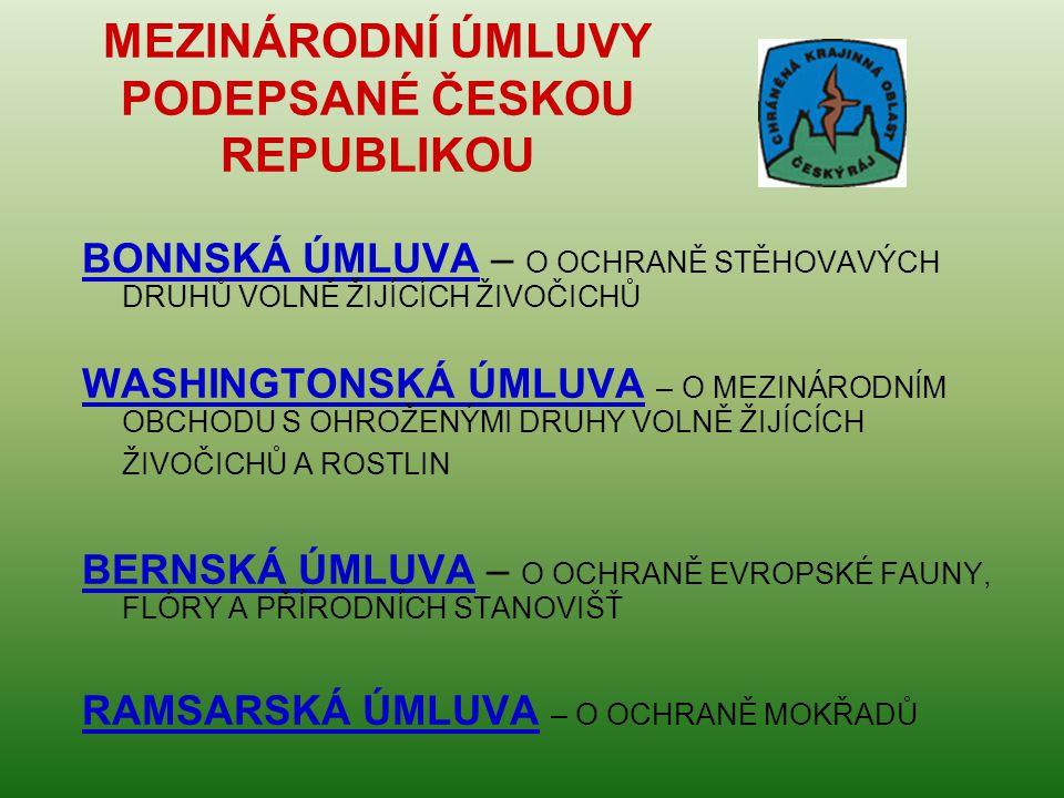MEZINÁRODNÍ ÚMLUVY PODEPSANÉ ČESKOU REPUBLIKOU