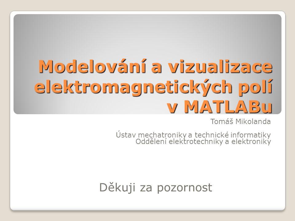 Modelování a vizualizace elektromagnetických polí v MATLABu