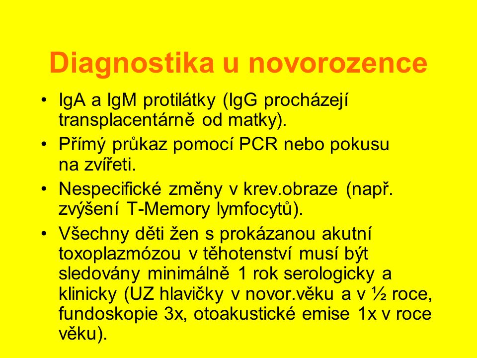Diagnostika u novorozence