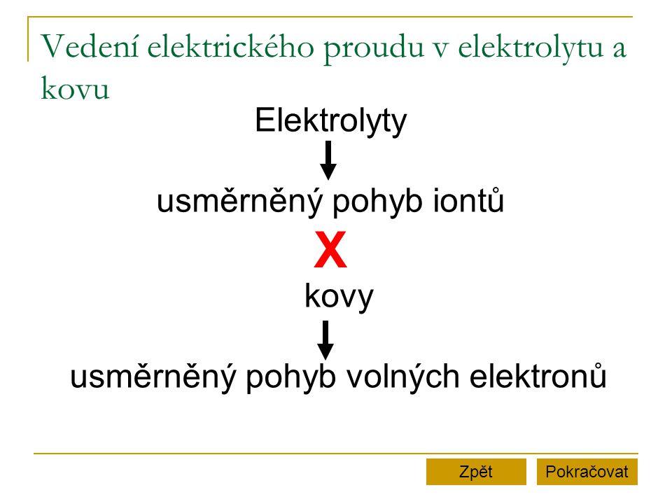 Vedení elektrického proudu v elektrolytu a kovu