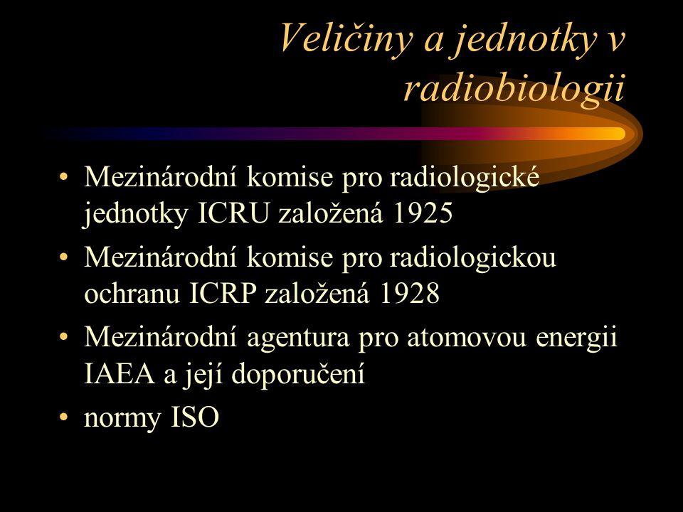 Veličiny a jednotky v radiobiologii
