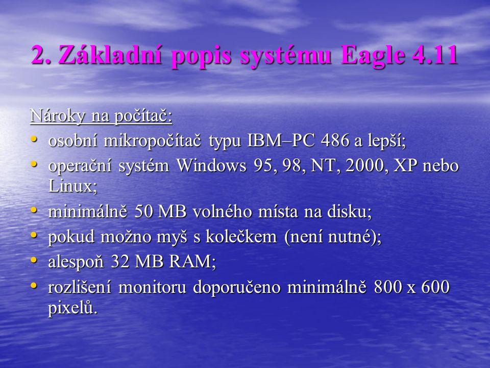 2. Základní popis systému Eagle 4.11