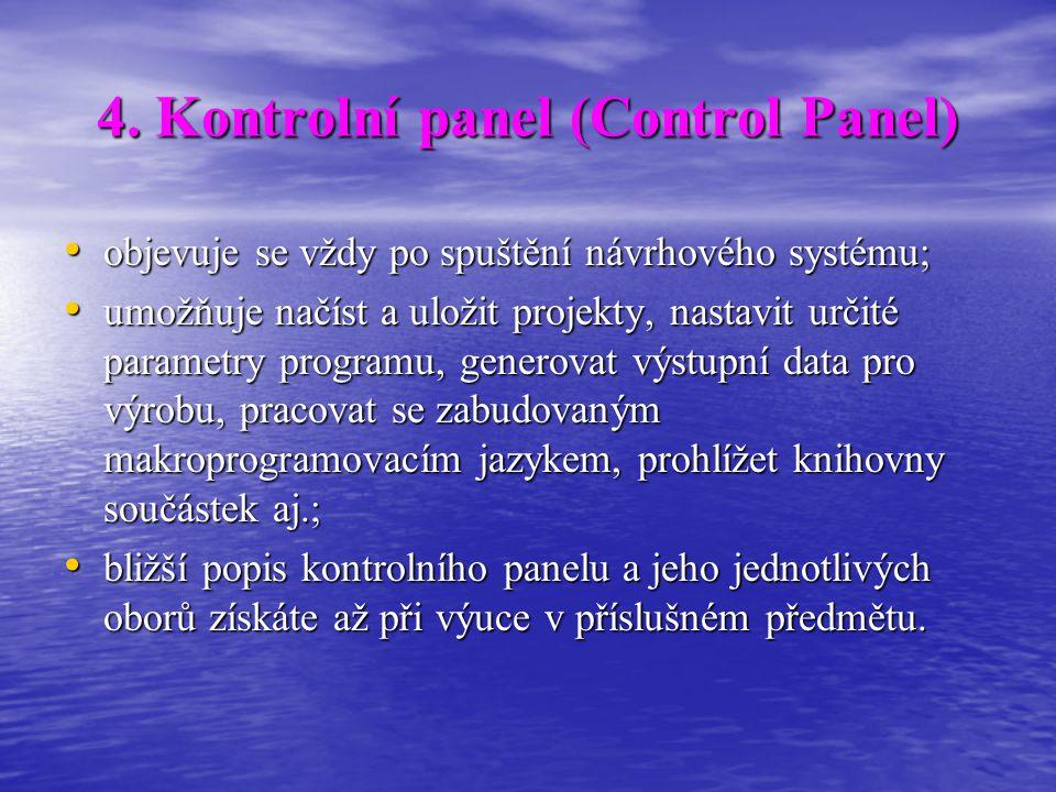 4. Kontrolní panel (Control Panel)