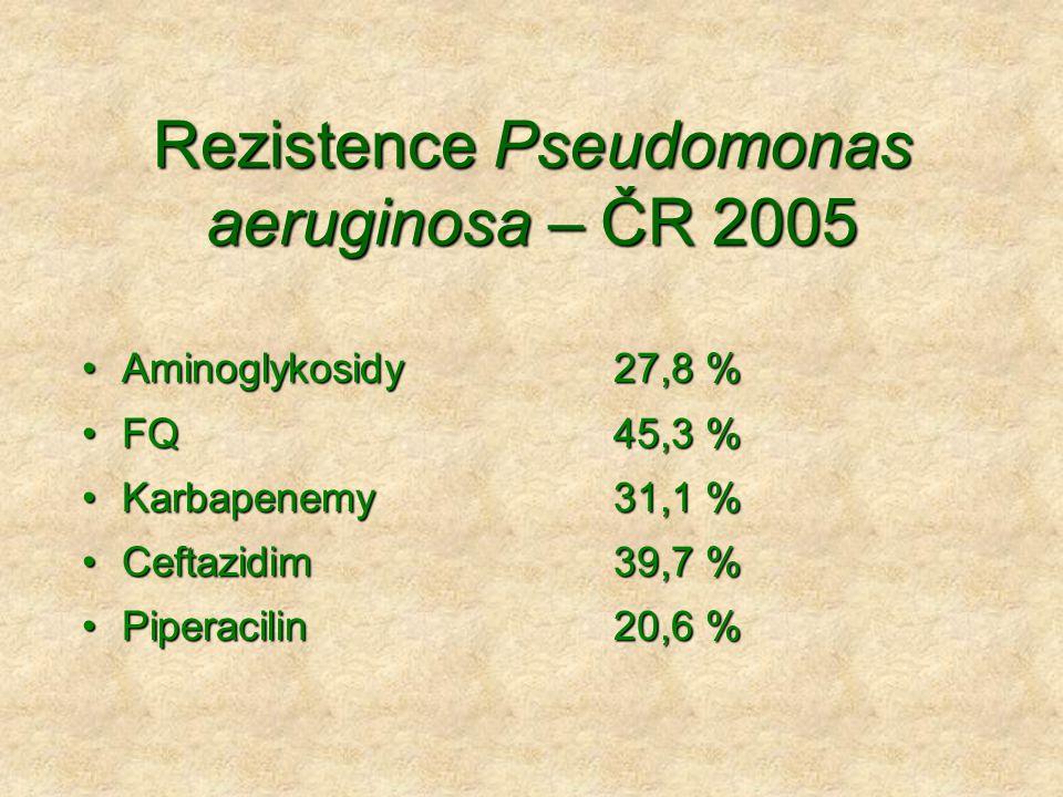 Rezistence Pseudomonas aeruginosa – ČR 2005