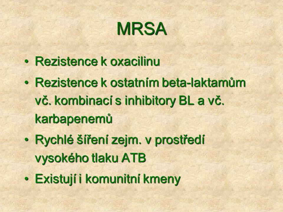 MRSA Rezistence k oxacilinu