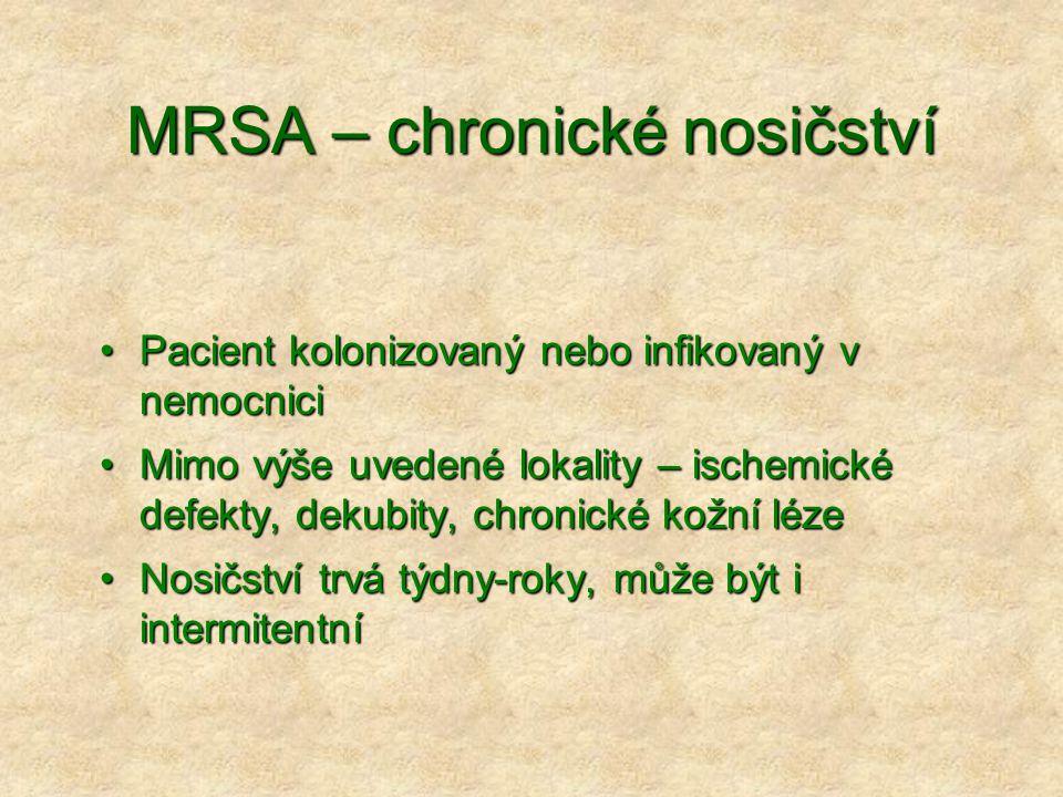 MRSA – chronické nosičství
