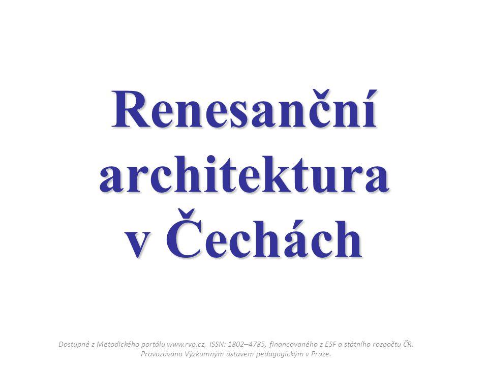 Renesanční architektura v Čechách