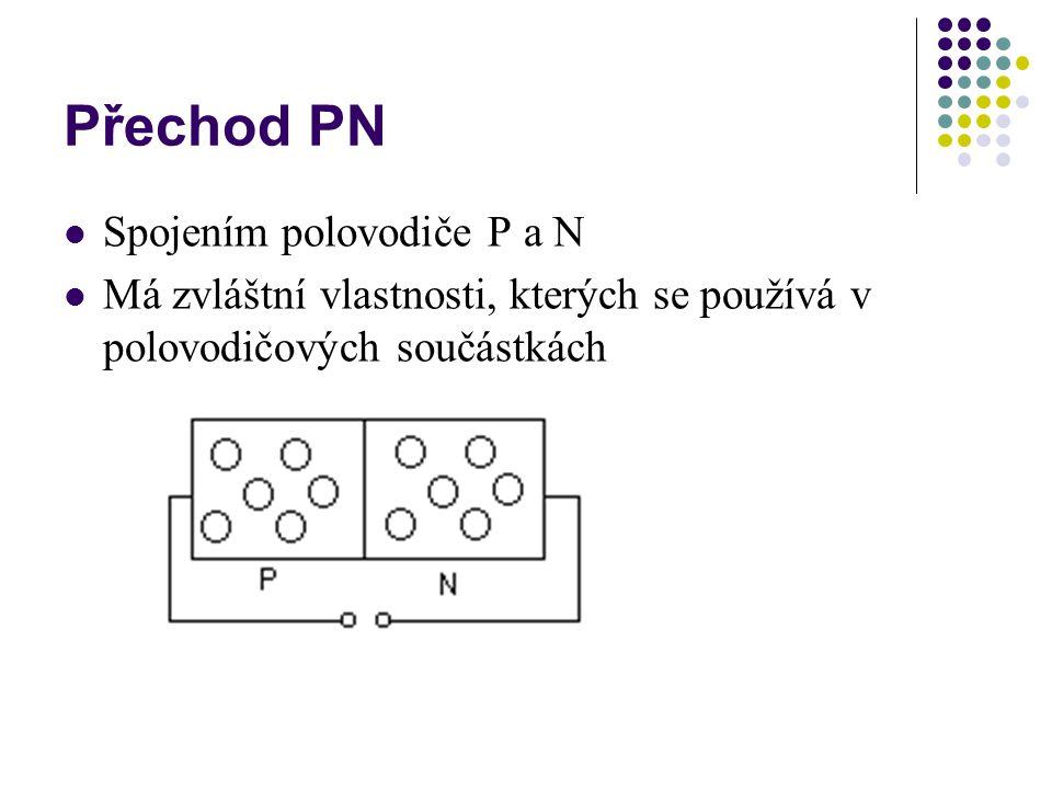 Přechod PN Spojením polovodiče P a N