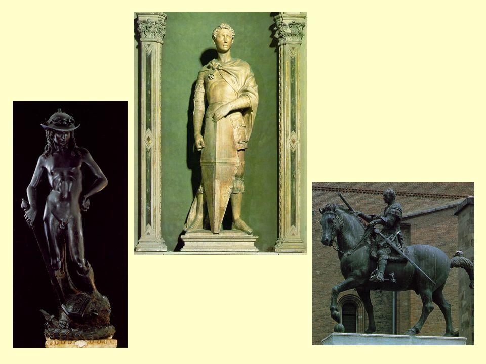 Donatello: David; sv. Jiří; Gattamelata