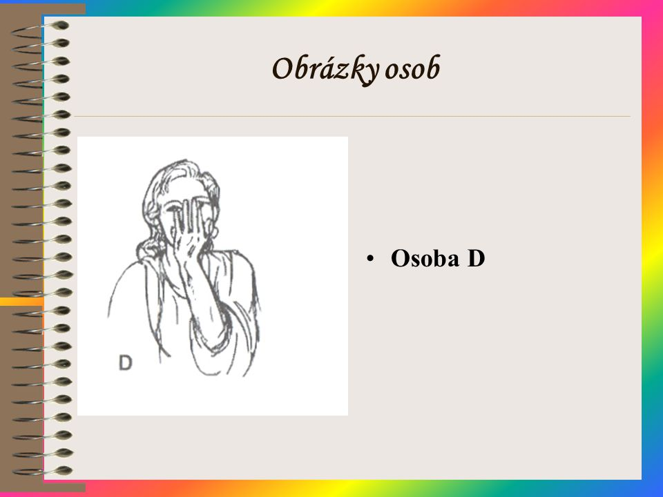 Obrázky osob Osoba D
