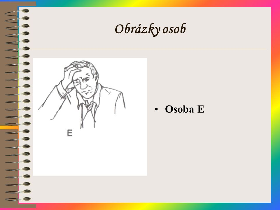Obrázky osob Osoba E
