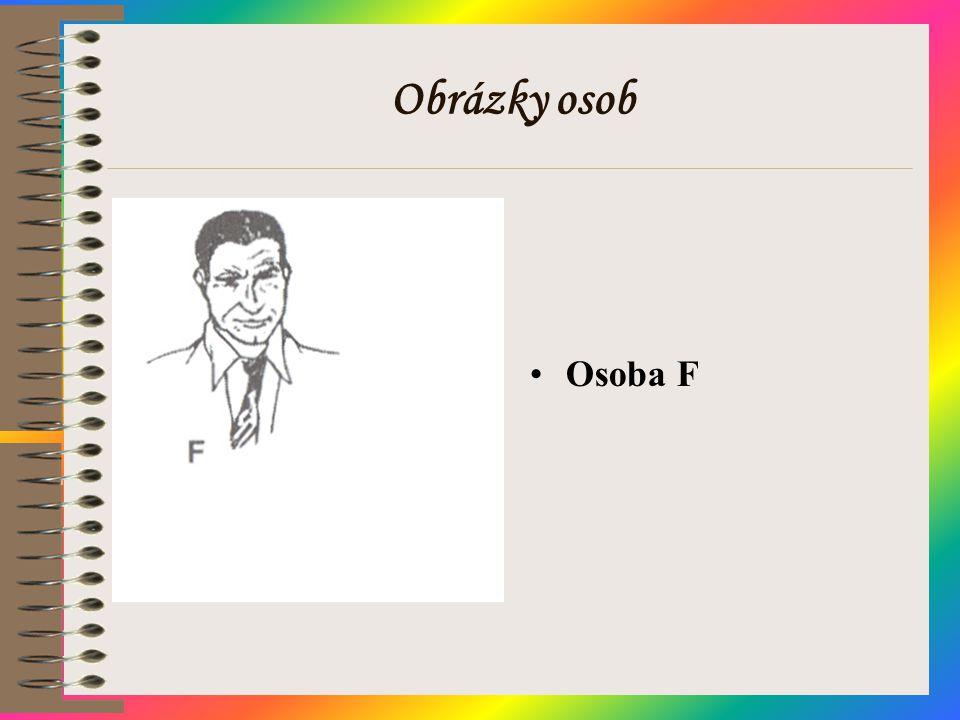 Obrázky osob Osoba F