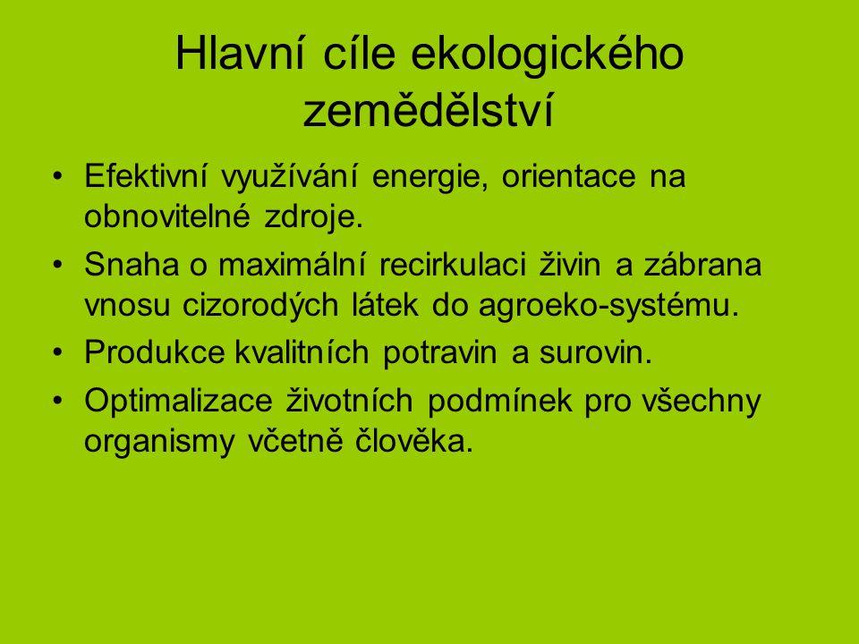 Hlavní cíle ekologického zemědělství