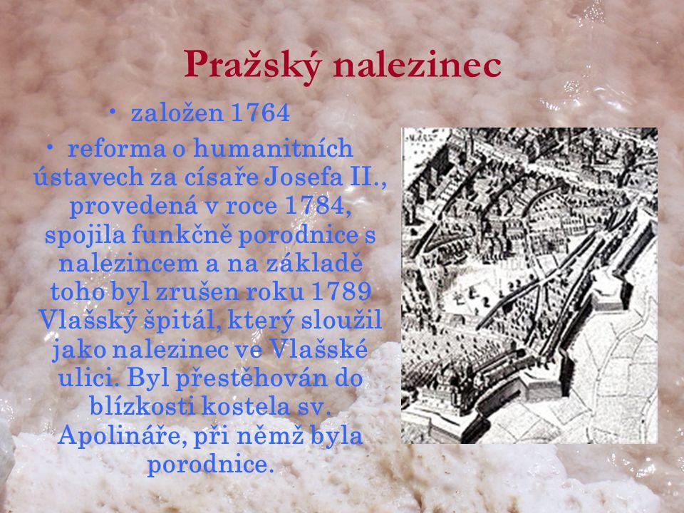 Pražský nalezinec založen 1764