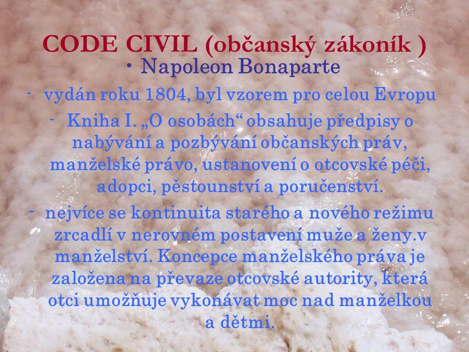 CODE CIVIL (občanský zákoník )