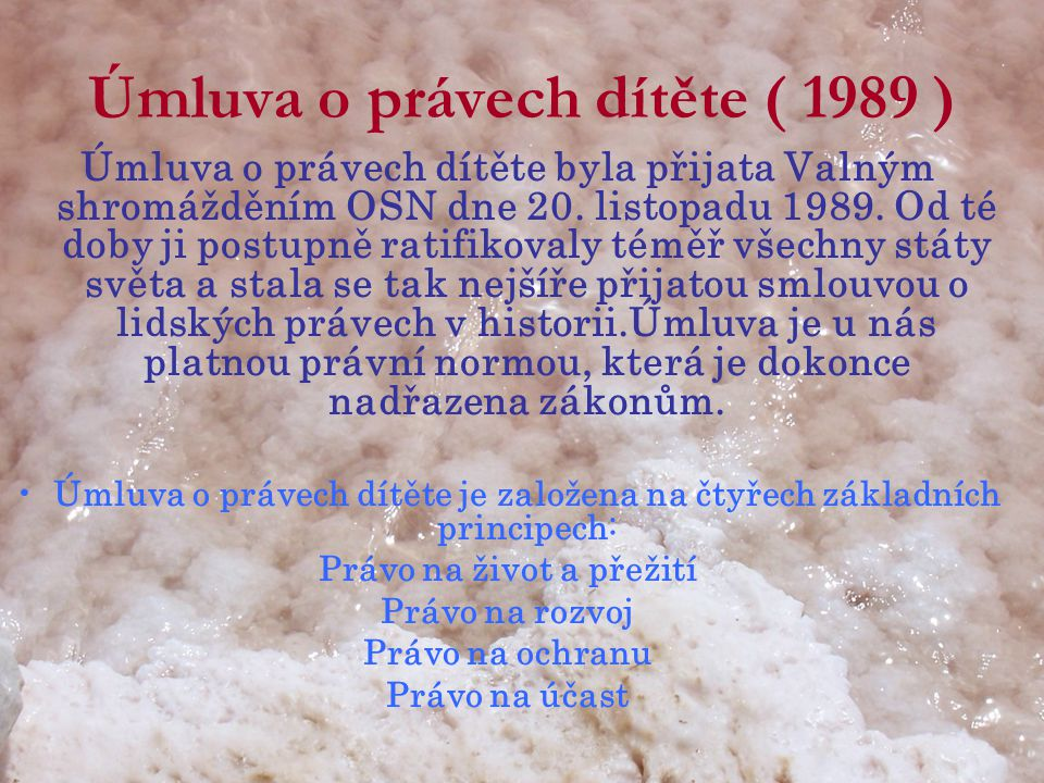 Úmluva o právech dítěte ( 1989 )